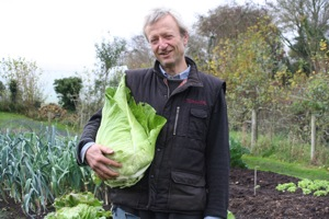 Charles with 11lb Fildekraut cabbage