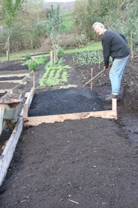 Biochar experiment being created last November, more on this in months ahead