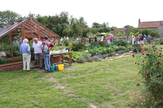 Visitors to the open afternoon on 1st September enjoyed a good look around and we all had lots of nice chats about growing! Thanks to your generous donations I was able to send to Africa, via Send a Cow, some seeds, magic muck (!) and a wheelbarrow, all for £150 - see www.sendacow.org.uk