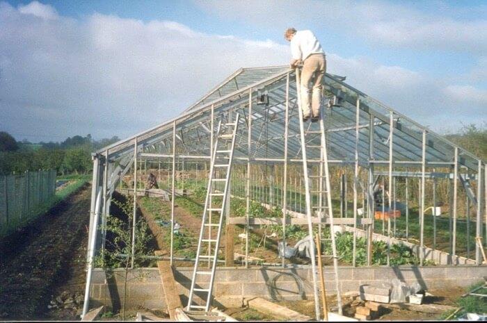 Charles Dowding greenhouse no dig