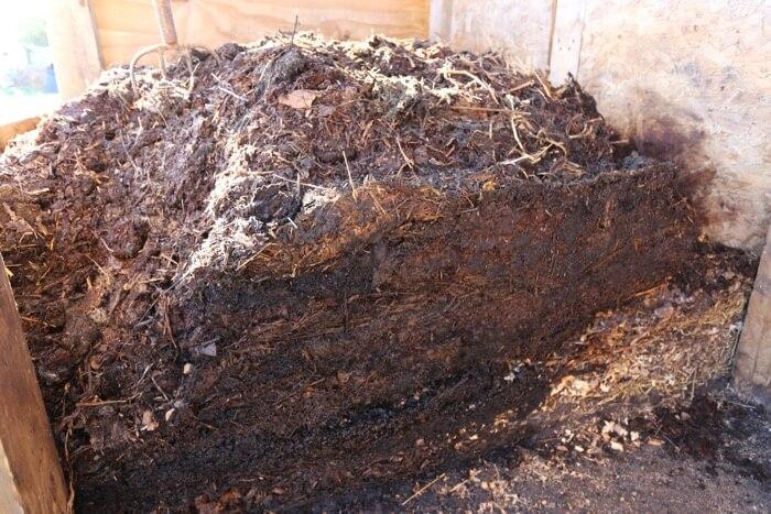 Compost heap av. age 8 weeks