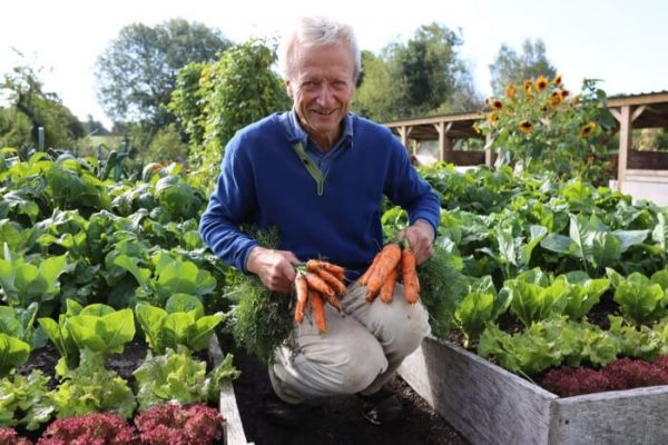 Charles with June sown carrots