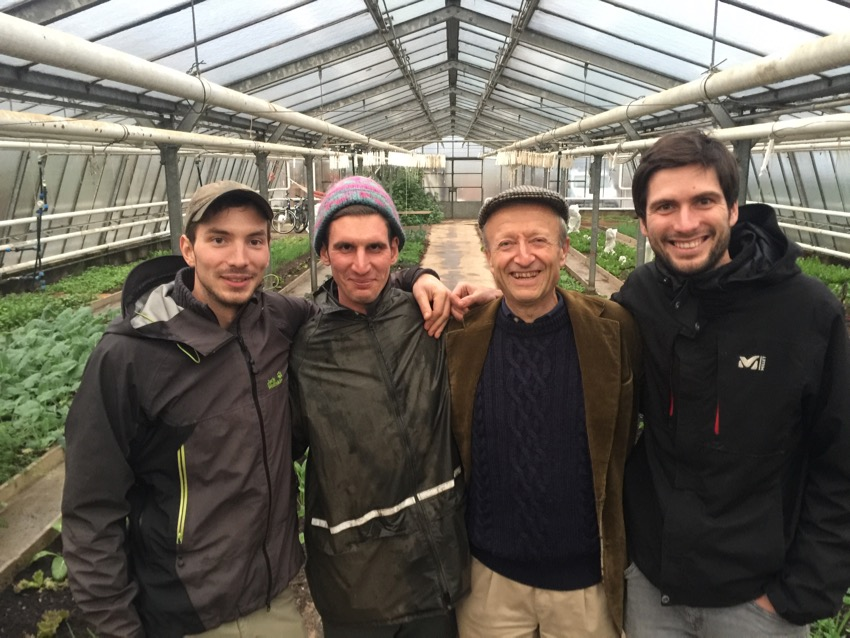 With fellow no dig, market gardeners in Germany