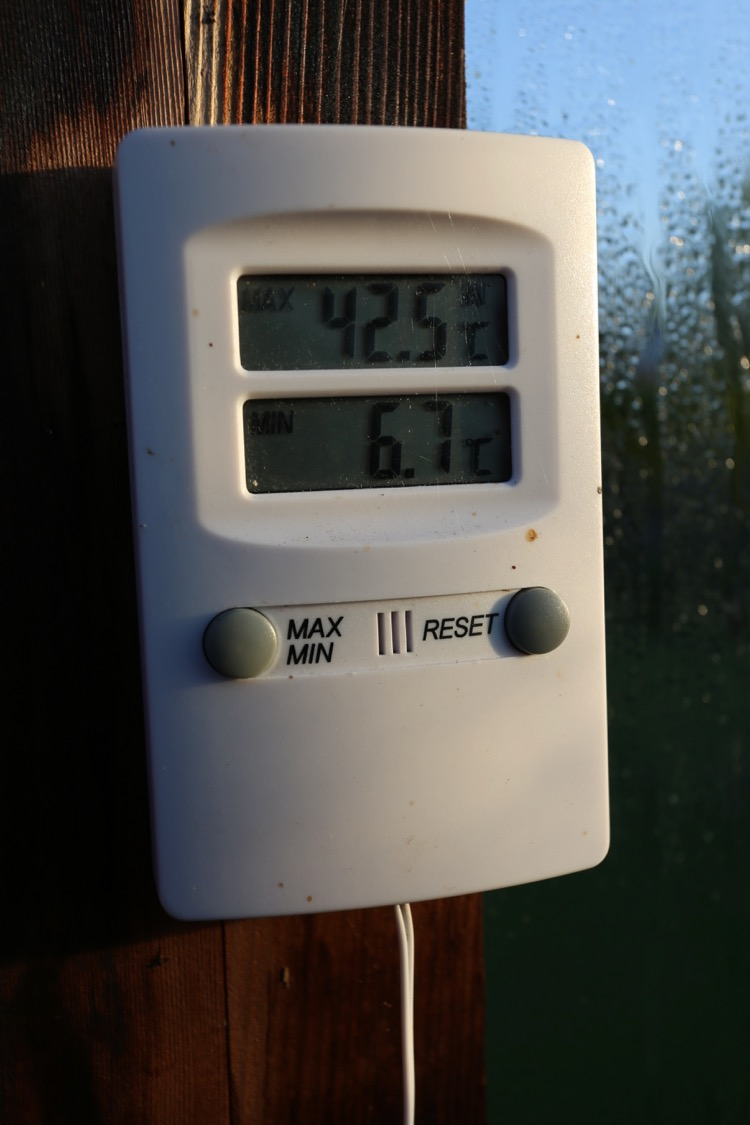 Greenhouse temperatures