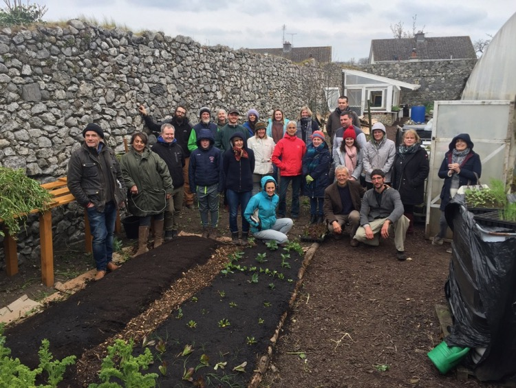Charles' course group in Birr, Ireland