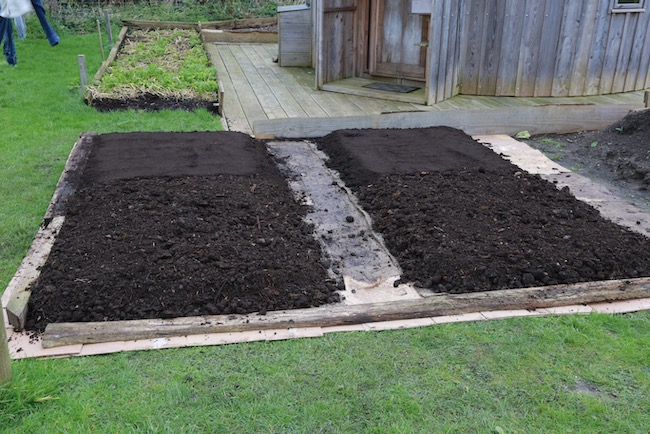 More compost added two months later