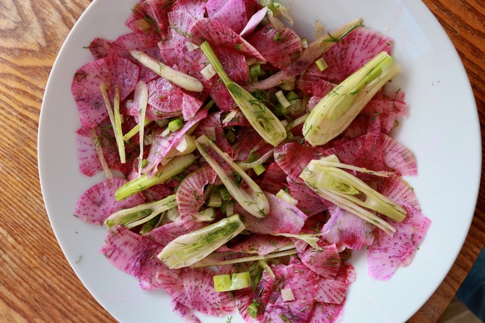 Salad of coloured radish & fennel