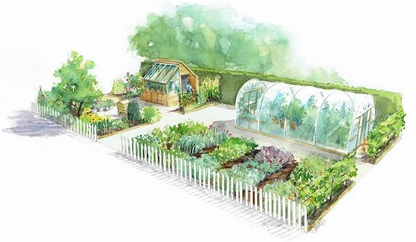 Hampton Court no dig garden