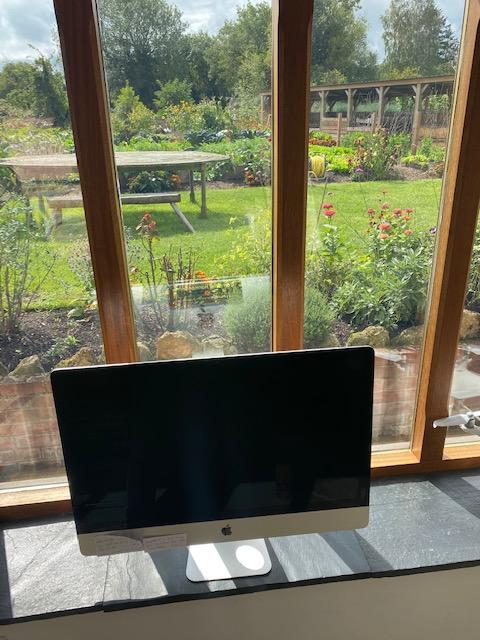 Computer empty, garden full