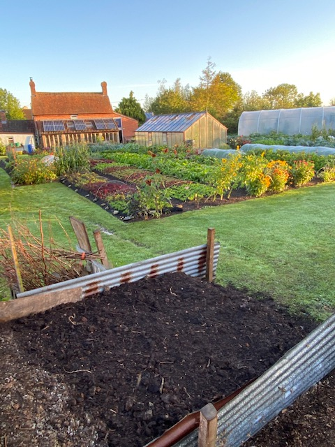 View of Homeacres and compost