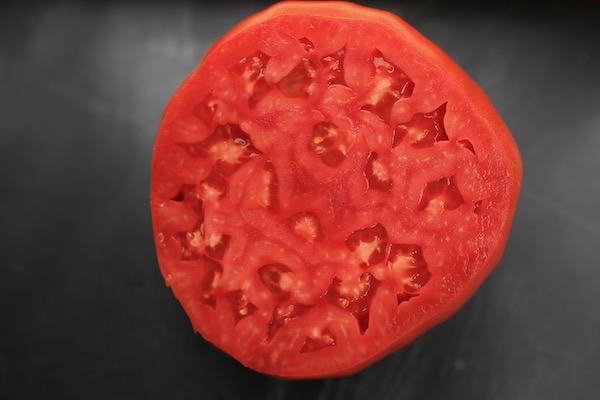 Feo de Rigordo tomato for seed saving, and eating!