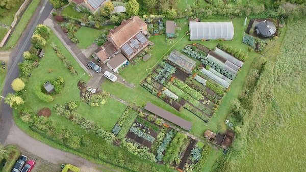 Drone view 7th October no dig garden