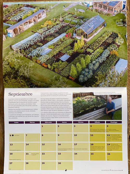 Spanish translation of Calendar's September page