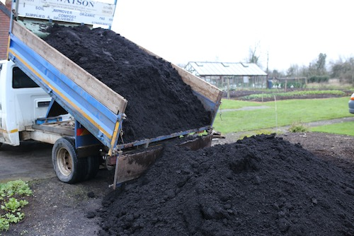 Two tons per lorry green waste compost