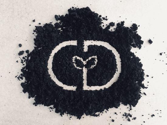 Monogram design CD in compost