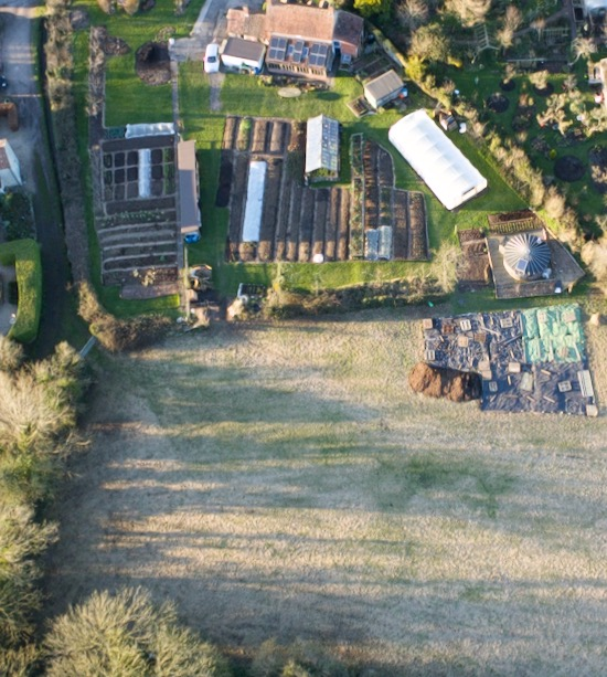 26th February drone view over Homeacres