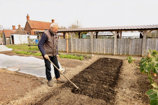 I draw drills the compost, for sowing carrot seeds