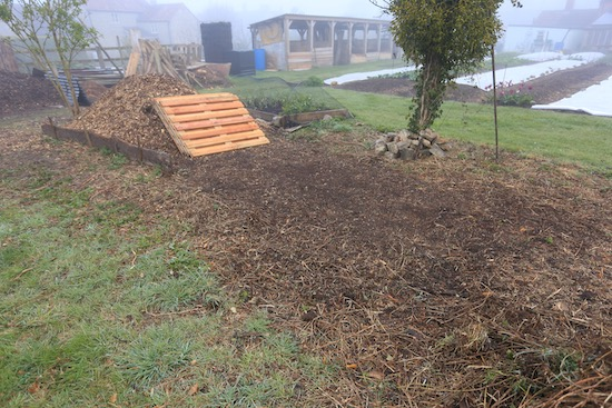 Area for new compost heaps before assembling them