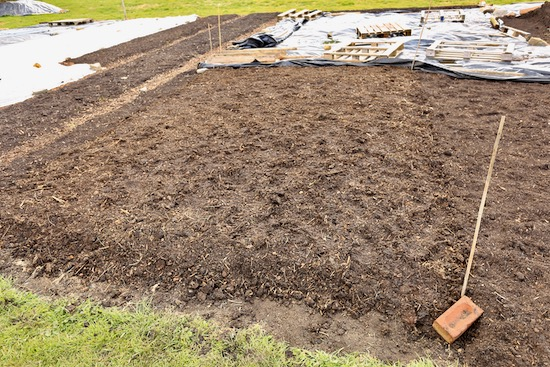 11th May and this is where the new polytunnel is about to be erected