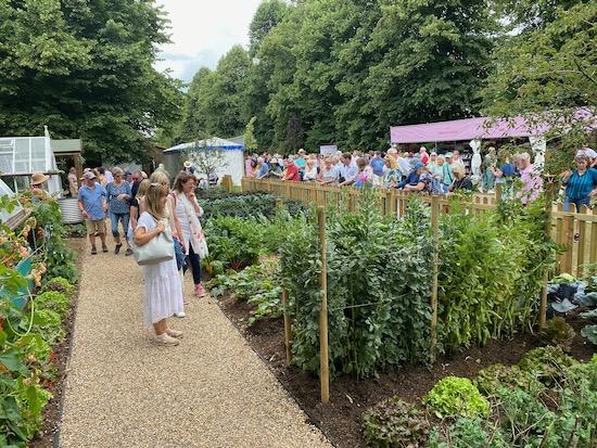 Hampton Court Show July 2021, no dig garden view