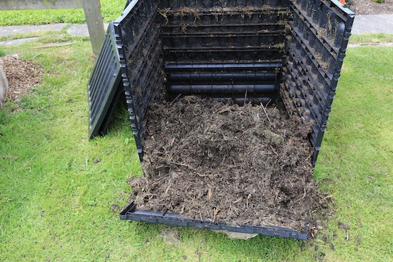 Compost was from this box, which fell apart!