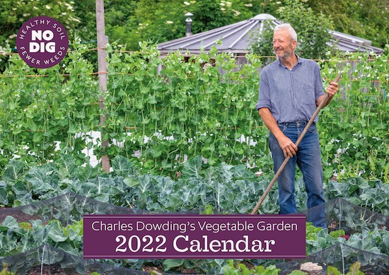 Charles Dowding Calendar 2022 front cover