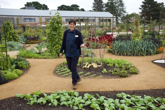 Sheila Das in Wisley's new edibles garden