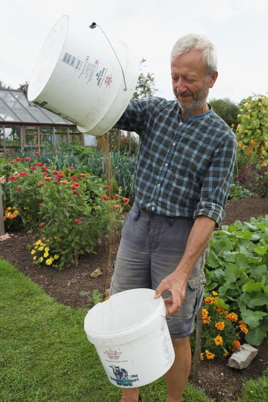Charles winnows beetroot seed